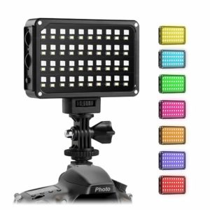 GVM RGB LED on Camera Light Full Color Output Video Light Kit