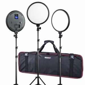 VILTROX 3-Pieces Ultra-Thin Bi-Color LED Video Lighting Kit